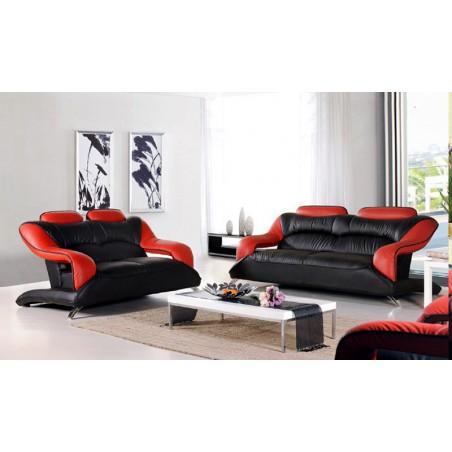 NEAPOL Komplet wypoczynkowy, czarny/czerwony