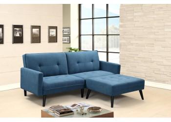 CORNER sofa niebieski